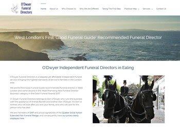 WordPress Website Wandsworth - O'Dwyer Funeral Directors